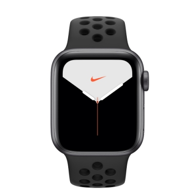 [無卡分期-12期]Apple Watch Nike S5(GPS)40mm 灰鋁+黑錶帶
