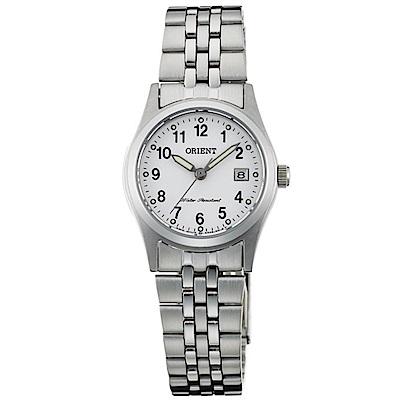 ORIENT東方錶 優雅時尚數字時標藍寶石石英女錶(FSZ46007W0)-白x24mm