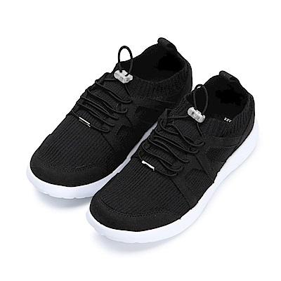 BuyGlasses 輕飄飄襪套式慢跑鞋-黑
