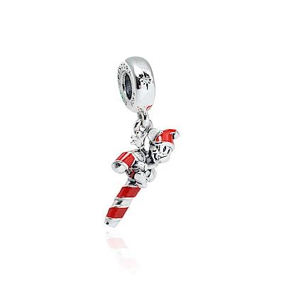 Pandora 潘朵拉 迪士尼系列 聖誕琺瑯糖果米奇 垂墜純銀墜飾