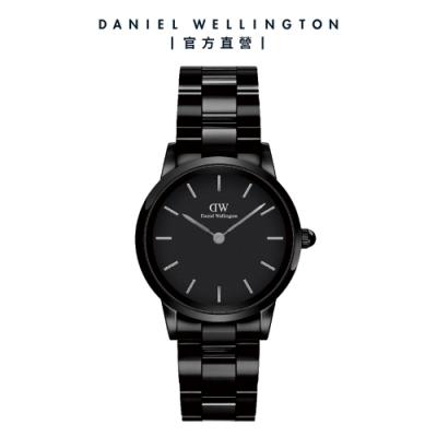 【Daniel Wellington】官方直營 Iconic Link Ceramic 28mm 曜石黑陶瓷錶 DW手錶