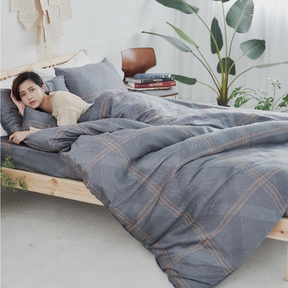 BUHO 100%TENCEL天絲床包枕套組-雙人加大(暗光幽語)