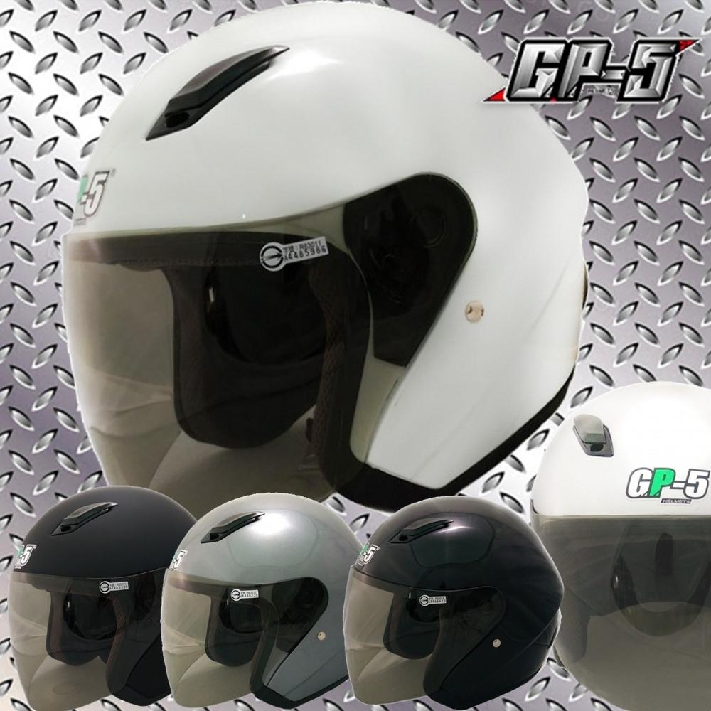 【GP-5】加大款開放式安全帽│大尺寸大頭圍│機車│內襯│抗UV鏡片│全可拆│3XL (白色)