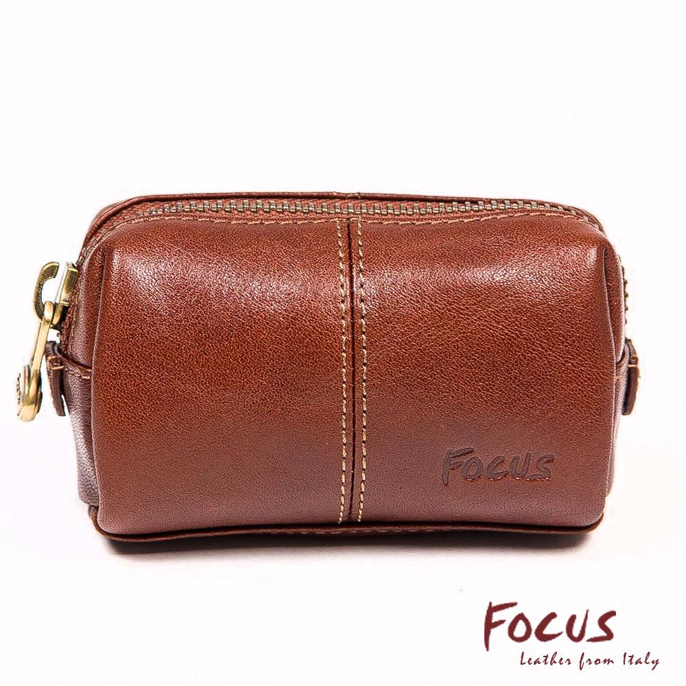 FOCUS經典原皮造型鑰匙零錢包(FTA0033)