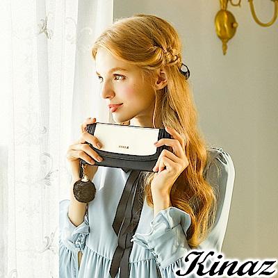 KINAZ 古典肖像ㄇ字型長夾-黛安娜系列