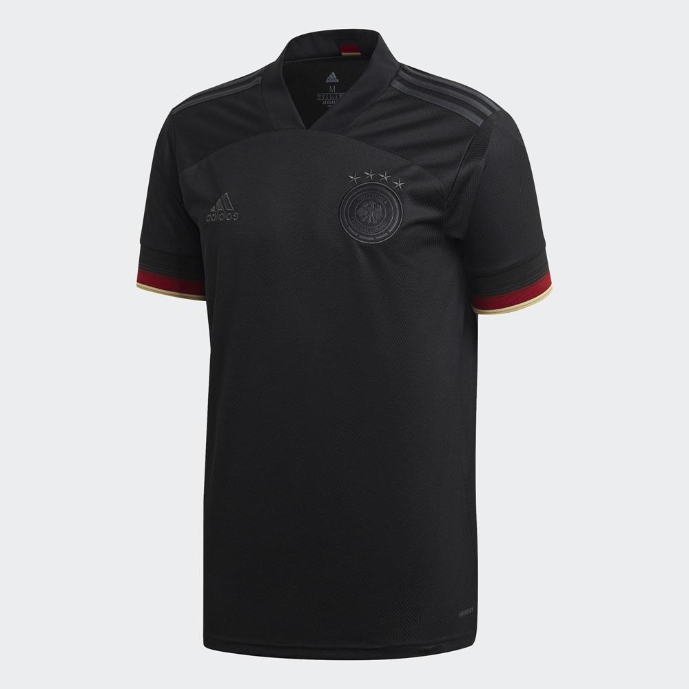 ADIDAS DFB A JSY 德國國家隊客場球衣 男短袖上衣 -黑-EH6117