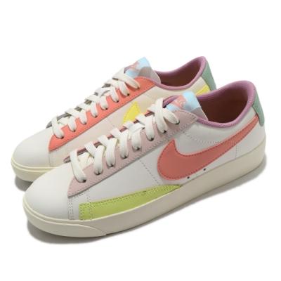 Nike 休閒鞋 Blazer Low LE 運動 女鞋 基本款 皮革 簡約 舒適 球鞋 穿搭 白 彩 DJ0035161