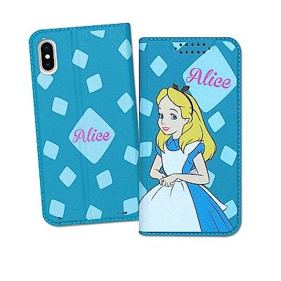 迪士尼授權正版 iPhone Xs / X 5.8吋 印花系列彩繪皮套(愛麗絲)
