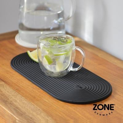 丹麥ZONE Rocks 長圓形圈紋矽膠杯墊(34x15cm)