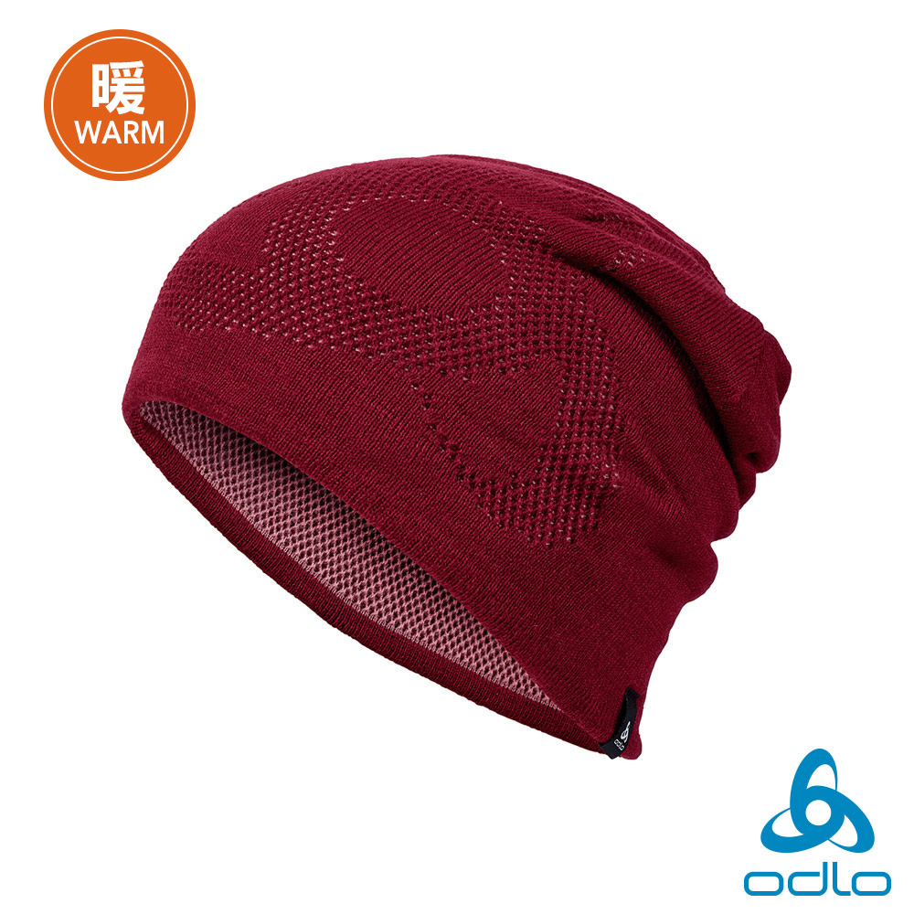 Odlo 保暖型雙面針織毛帽 倫巴紅/玫瑰紫