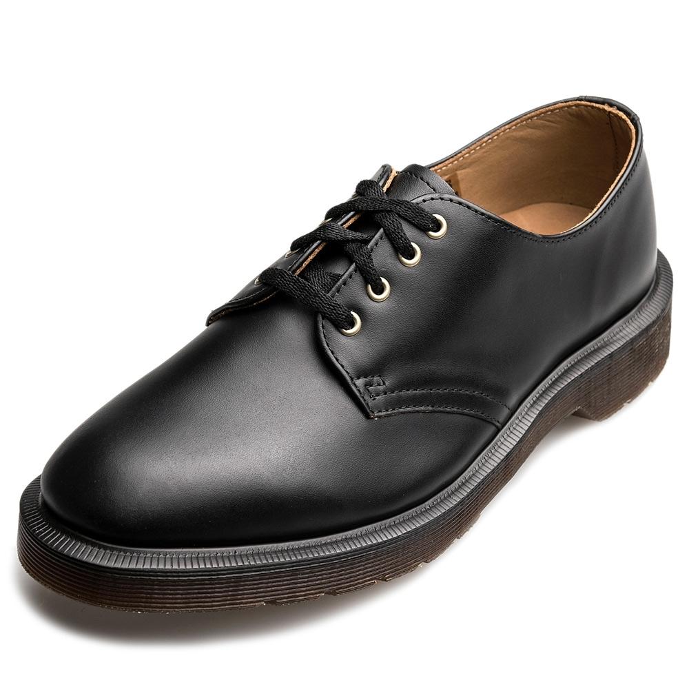 Dr.Martens-復古SMITHS4孔馬汀鞋-黑色R16056001