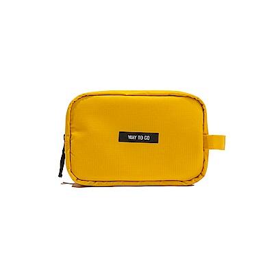 Antenna Shop 全家旅遊收納隨身化妝包-閃耀黃