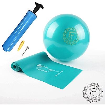 Fun Sport 小跟班瑜珈球-1顆-20cm+彼拉提斯彈力帶加長180cm1條含打氣筒 @ Y!購物