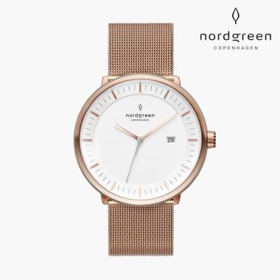 Nordgreen Philosopher 哲學家 玫瑰金系列 玫瑰金鈦鋼米蘭錶帶手錶 40mm