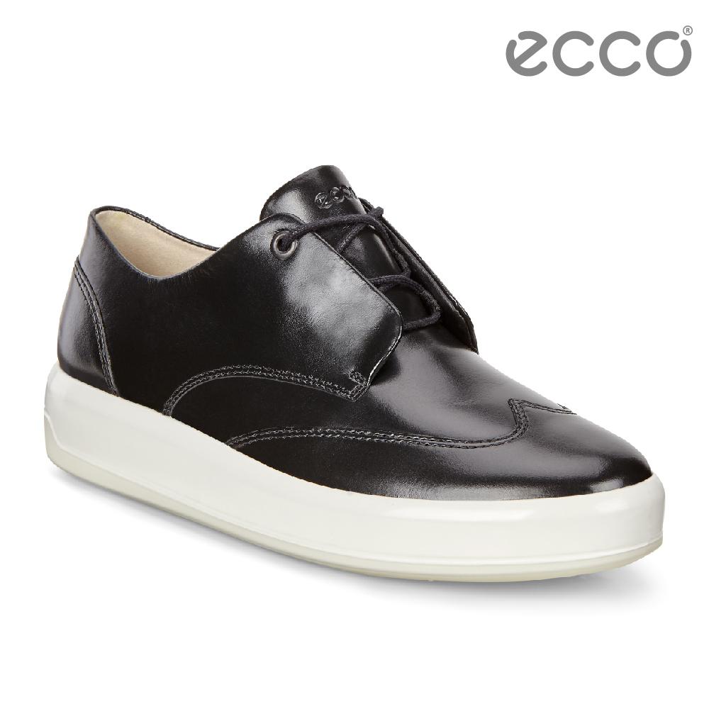 ECCO SOFT 9 氣質百搭輕便休閒鞋 女-黑