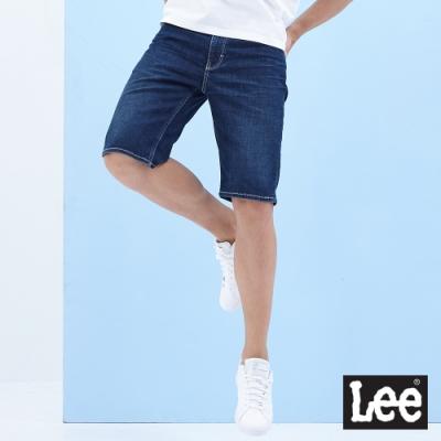 Lee 牛仔短褲 902 男 深藍 帳篷印刷  彈性+輕量 LITE