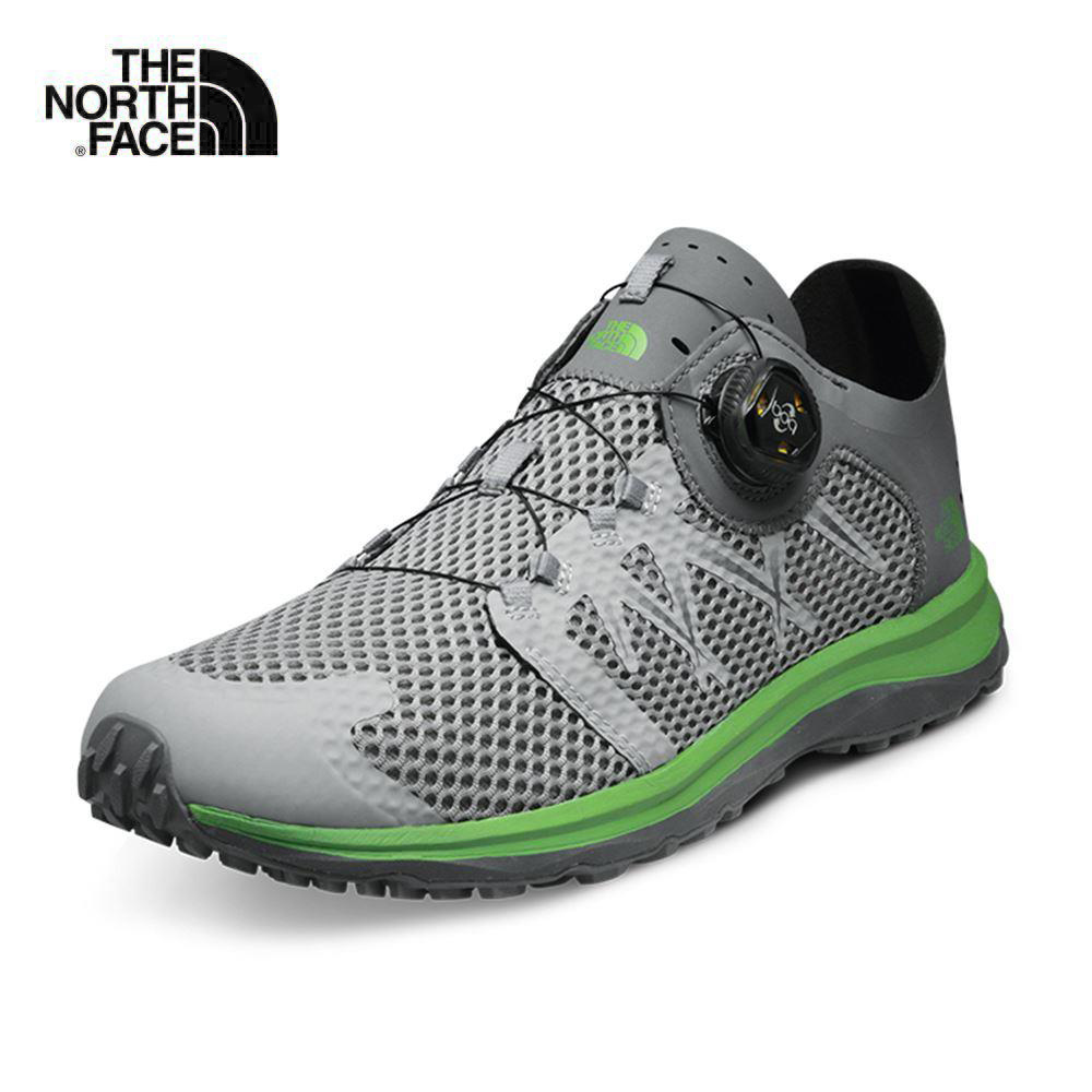 The North Face北面男款灰色BOA鞋帶系統徒步鞋