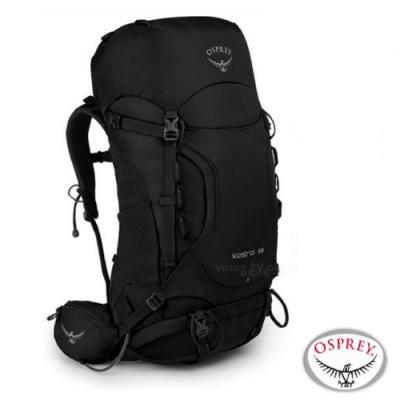 OSPREY 新款 Kestrel 38L 輕量健行登山背包_黑 R