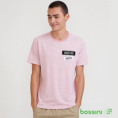 bossini男裝-圓領短袖T恤13嫩粉
