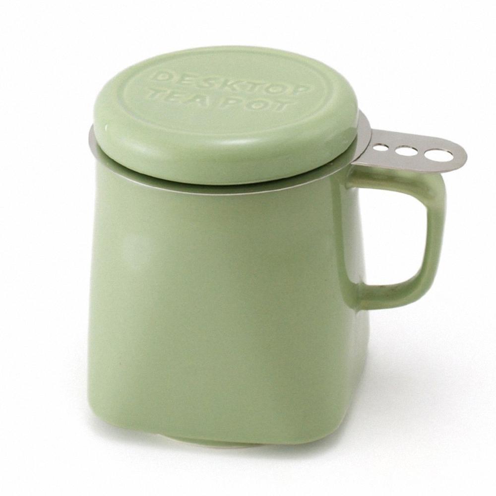 ZERO JAPAN 陶瓷泡茶馬克杯(大地綠)400cc
