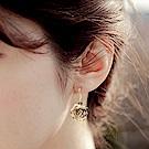 Hera 赫拉 短款線條玫瑰鋯石耳環-2款