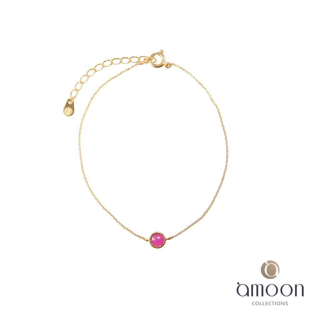 amoon 璀璨霓虹系列 光彩 K金藍寶石手鍊