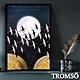 TROMSO 北歐時代風尚有框畫-星辰圓月WA182 product thumbnail 1