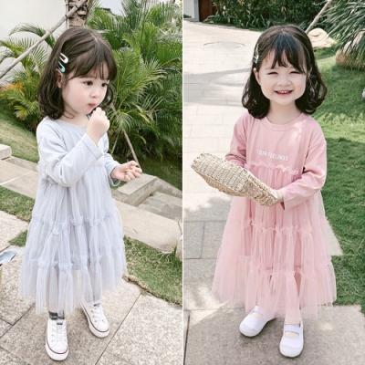 小衣衫童裝 秋冬女童甜美款長袖花邊紗裙洋裝1080916