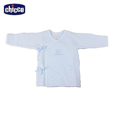 chicco-夾棉肚衣-藍(3-6個月)