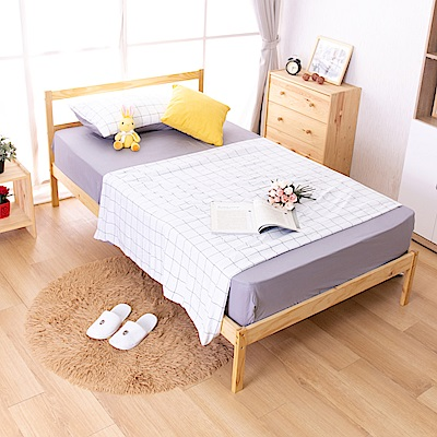 AS-偉特3.5尺實木單人床-淺色DIY-111x193x75cm