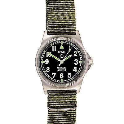 MWC瑞士軍錶 G10LM 步兵系列 橄欖綠 軍事設計錶 -黑色/35mm
