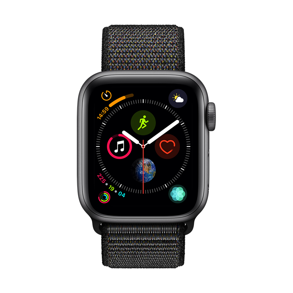 Apple Watch Series 4(GPS) 40mm太空灰色鋁金屬錶殼搭配黑色錶環 @ Y!購物