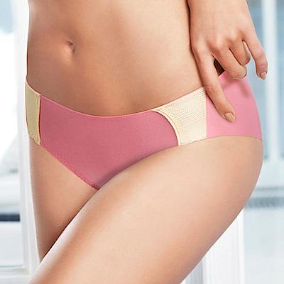 黛安芬-Home Bra-紓壓軟鋼圈 M-EL平口內褲 輕甜粉