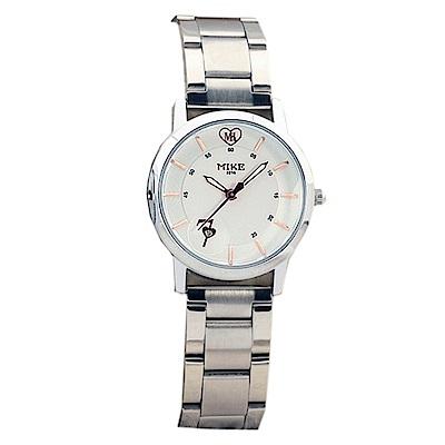 Mirabelle 思慕愛意 線型不鏽鋼女錶 白面玫瑰金字27mm