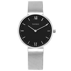 TAYROC  浪漫奢華時尚米蘭腕錶-銀X黑(TY148)-36mm