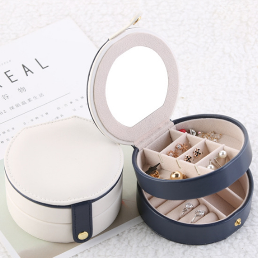 梨花HaNA 半圓質感輕旅行隨身攜帶首飾盒珠寶盒收納 @ Y!購物