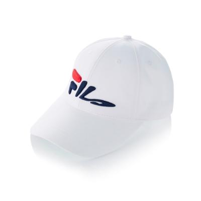 FILA 時尚LOGO帽-白 HTT-5007-WT