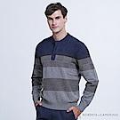 ROBERTA諾貝達 台灣製 都會型男 立領純羊毛衣  灰色