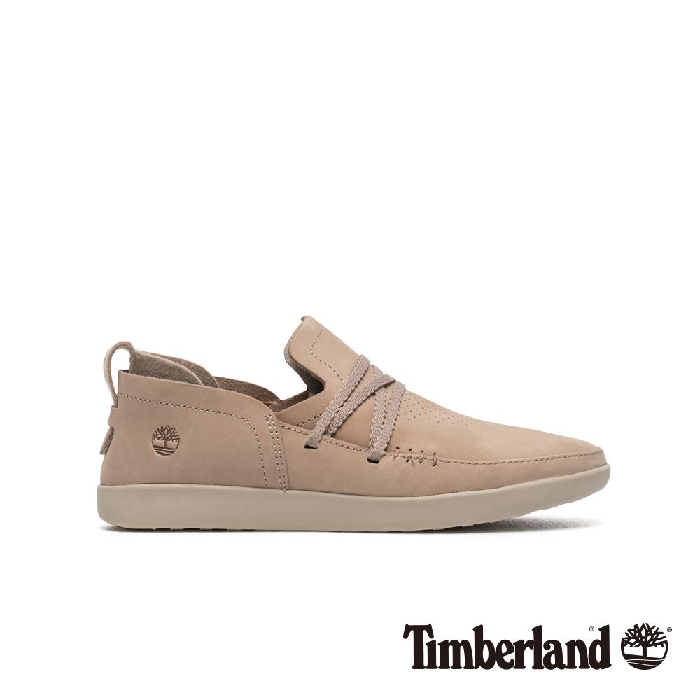 Timberland 女款灰褐色磨砂革舒適透氣休閒鞋 A1YCK
