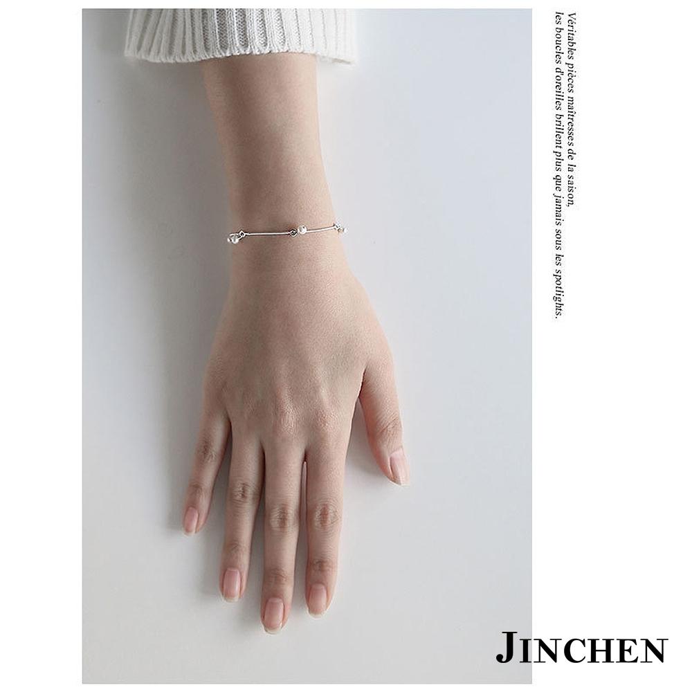 JINCHEN 純銀蛇鍊珍珠手鍊