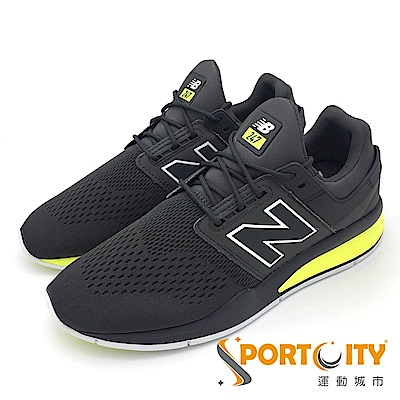 New Balance 男慢跑鞋 黑灰 MS247TG-D