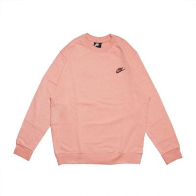 Nike 大學T NSW Crew 運動休閒 男款 基本款 衛衣 圓領 穿搭推薦 logo 粉橘 黑 DA0684800
