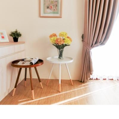 Amos-北歐簡約圓型實木防潑水茶几桌