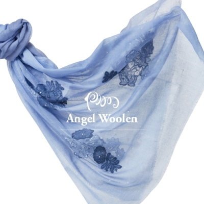 【ANGEL WOOLEN】花意印度胎羊毛手工披肩(共四色)