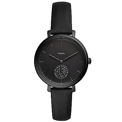 FOSSILJacqueline優雅晶鑽時尚手錶(ES4490)-黑/36mm