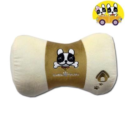 【安伯特】法鬥犬蝴蝶枕 車用頸枕 靠枕 辦公室瞌睡枕 沙發靠枕 卡通圖案 透氣