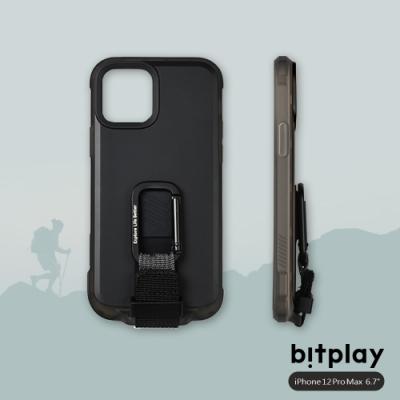 bitplay Wander Case iPhone 12 Pro Max (6.7吋)專用 獨創支架扣環掛繩軍規防摔立扣殼▲黑