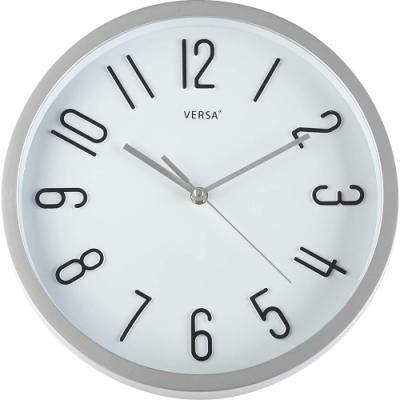 《VERSA》浮雕數字掛鐘(銀30cm)