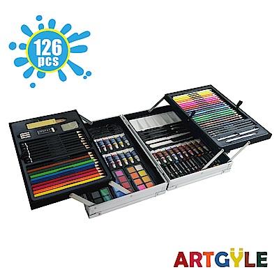 美國ARTGYLE 雙層鋁盒繪畫綜合套組(126PCS)