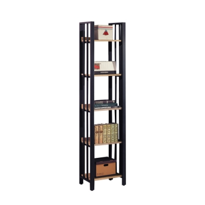 柏蒂家居-肖恩工業風1.5尺五層開放式書櫃/書架/收納置物架-44x40x203cm